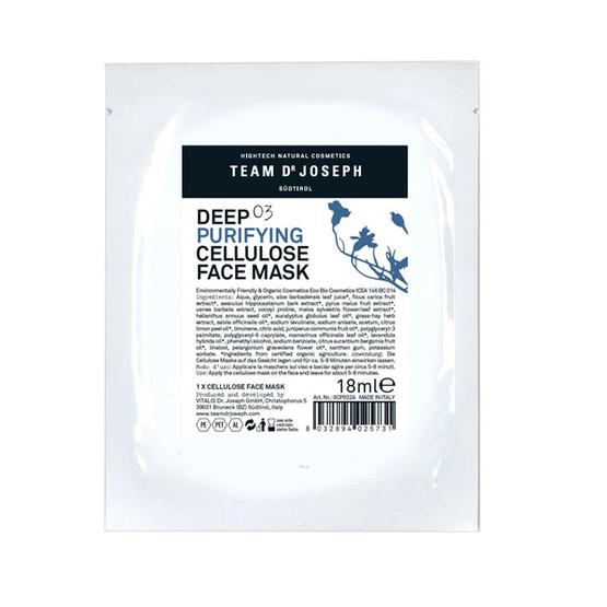 TEAM DR JOSEPH Deep Purifying Cellulose Mask